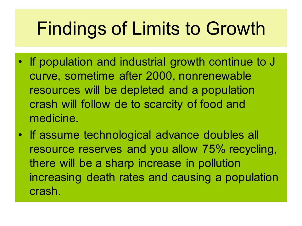 Findings of Limits to Growth