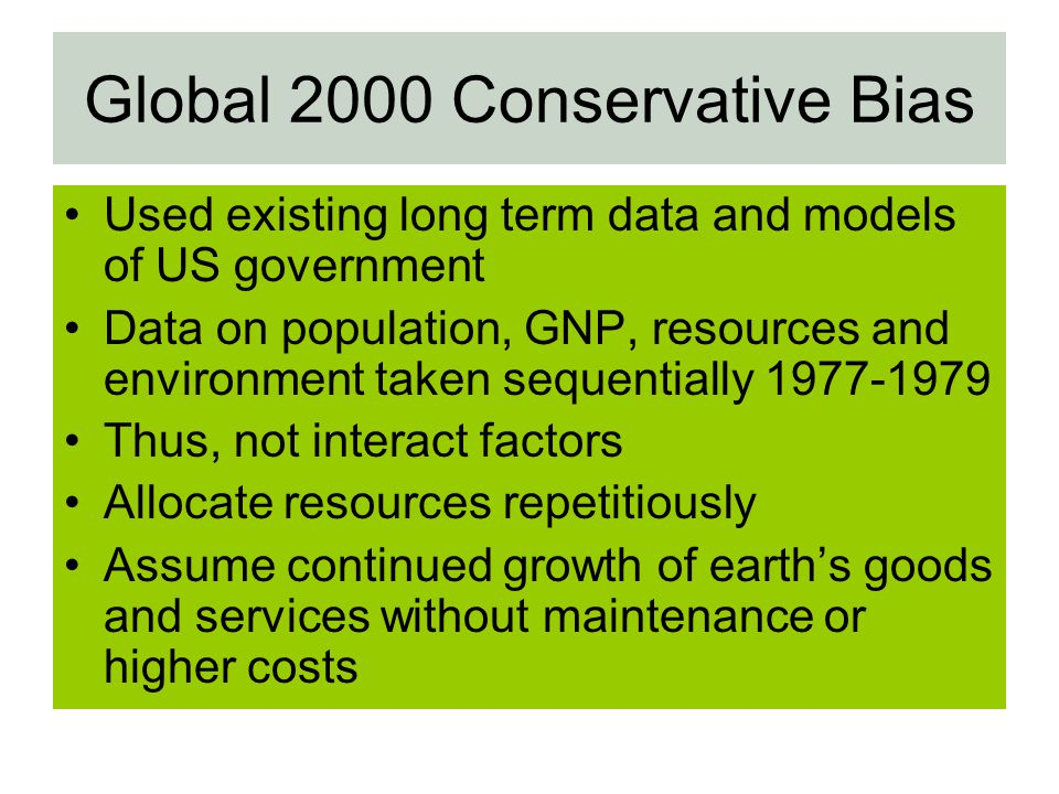 Global 2000 Conservative Bias