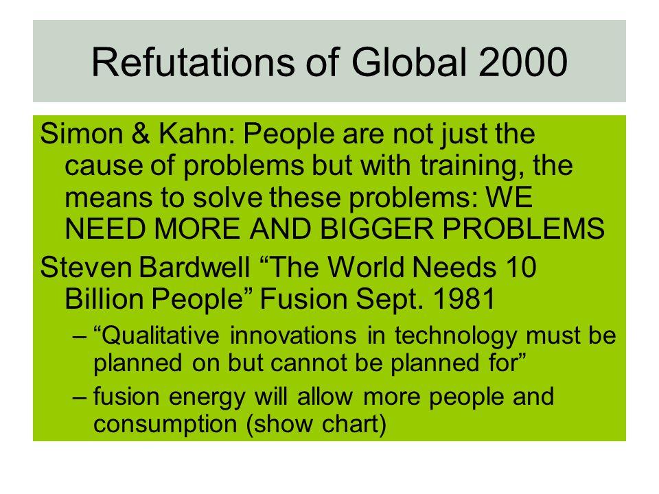 Refutations of Global 2000