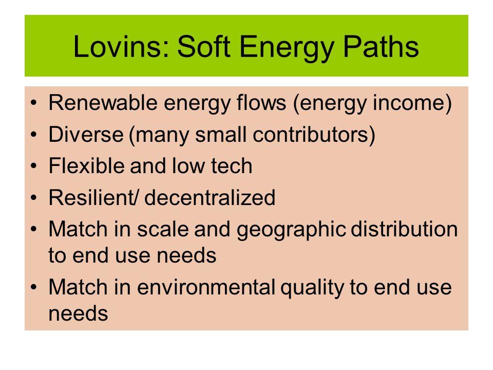 Lovins: Soft Energy Paths