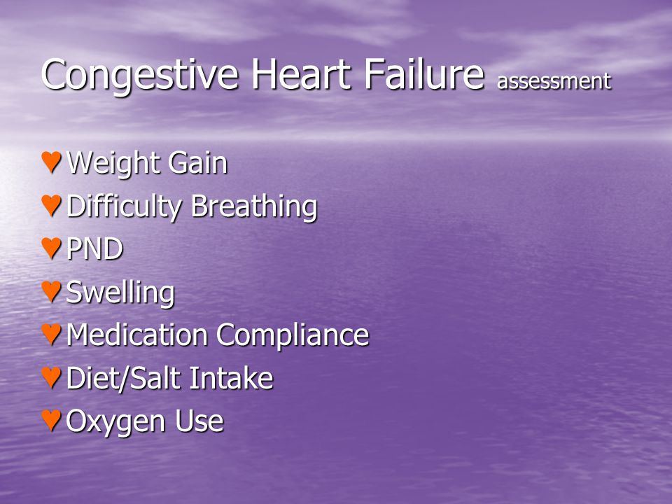 Congestive Heart Failure assessment