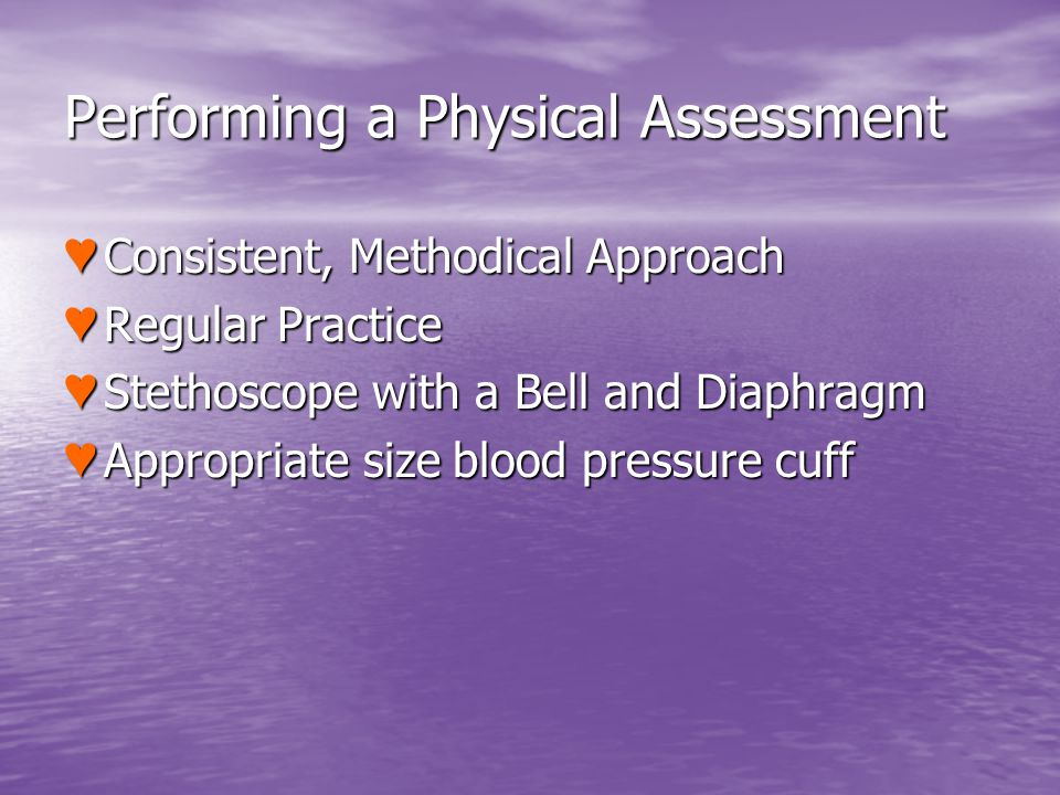 Performing a Physical Assessment