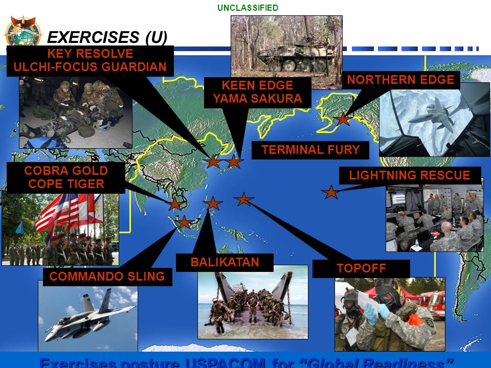 Exercises posture USPACOM for Global Readiness