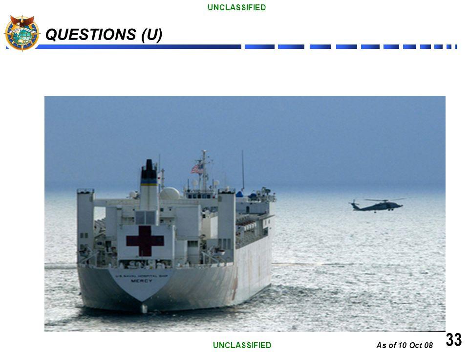 QUESTIONS (U) Questions 33