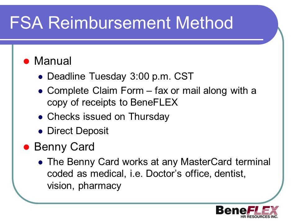 FSA Reimbursement Method