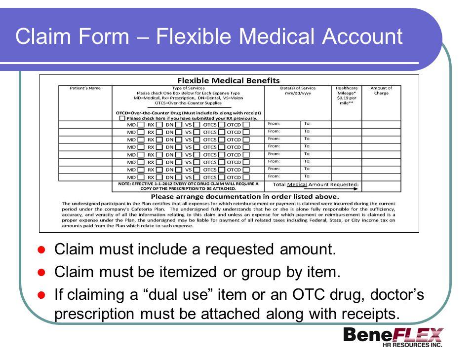 Claim Form – Flexible Medical Account