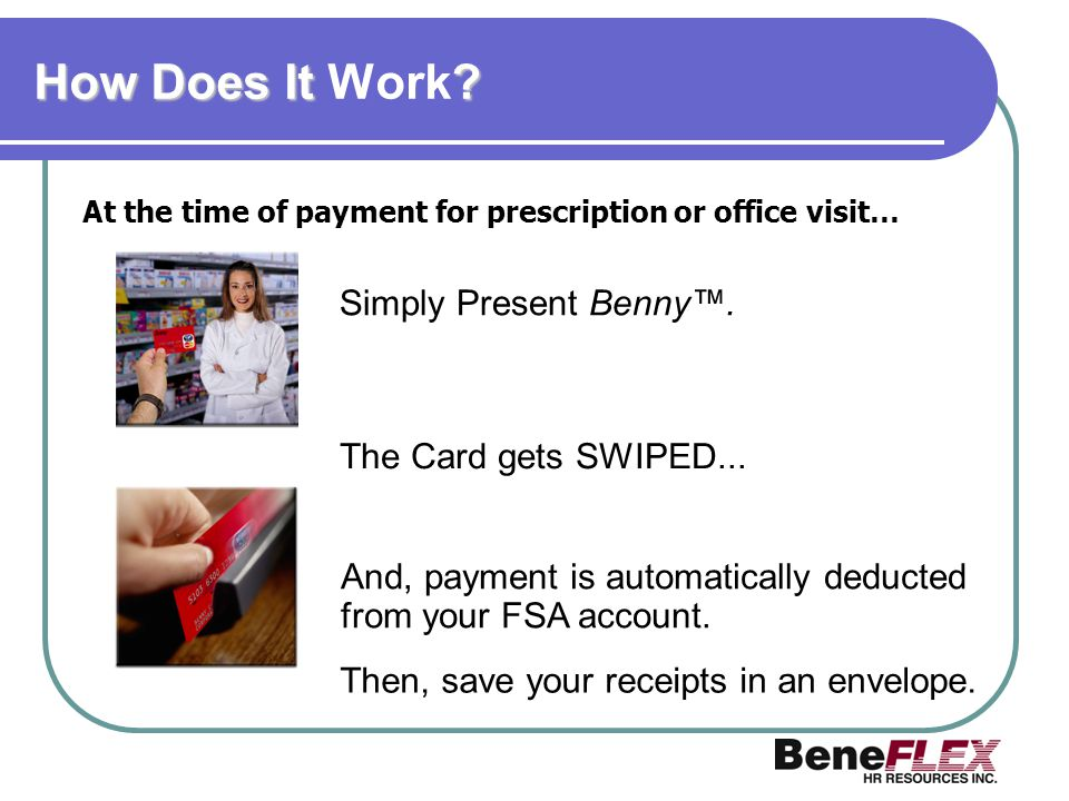 How Does It Work Simply Present Benny™. The Card gets SWIPED...