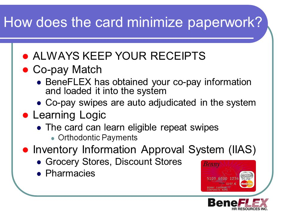 How does the card minimize paperwork