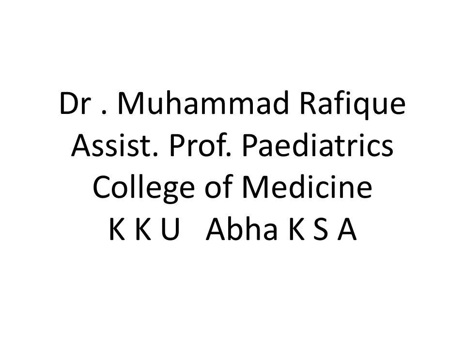 Dr. Muhammad Rafique Assist. Prof