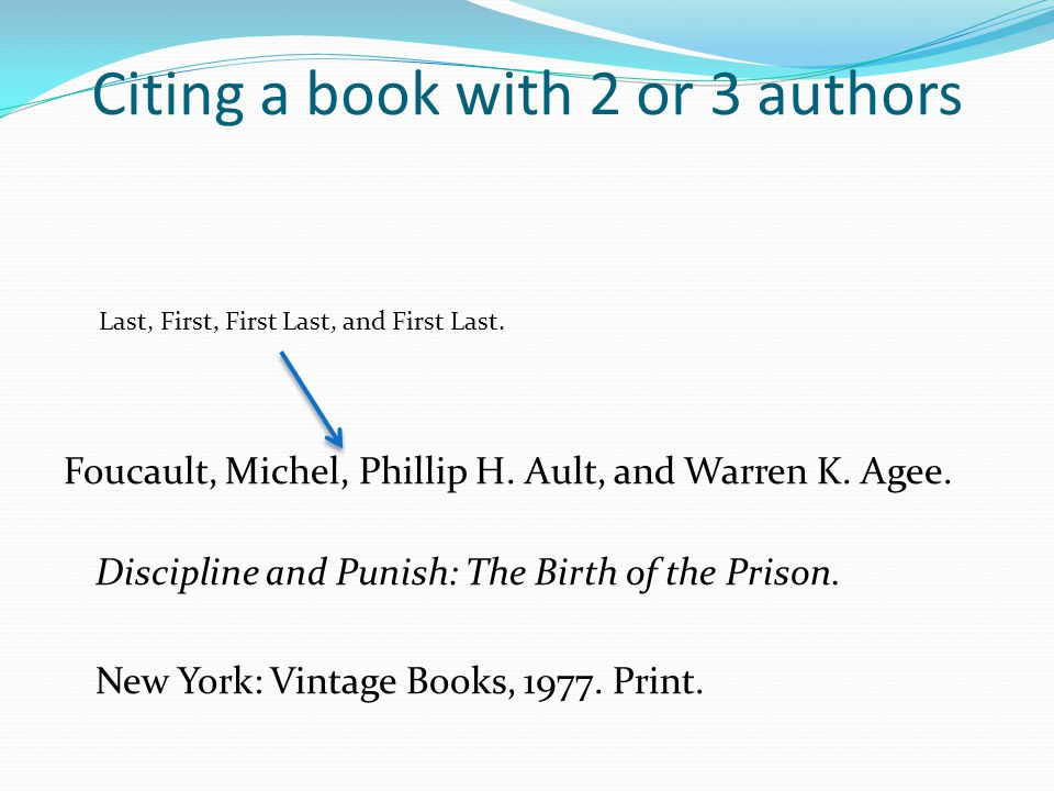 Citing a book with 2 or 3 authors