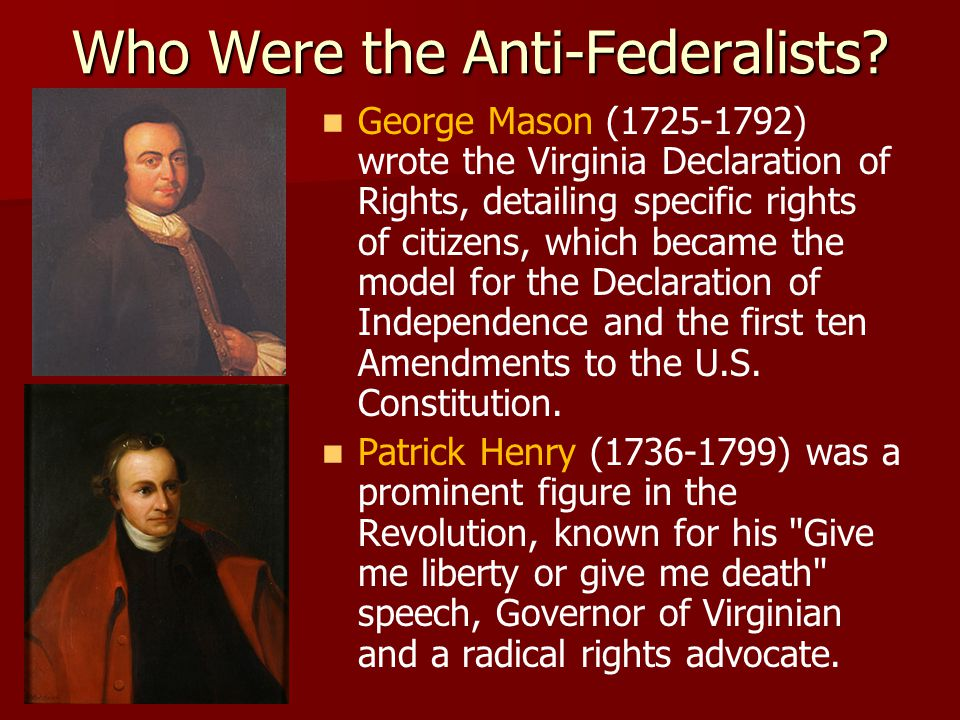 Who Were the Anti-Federalists