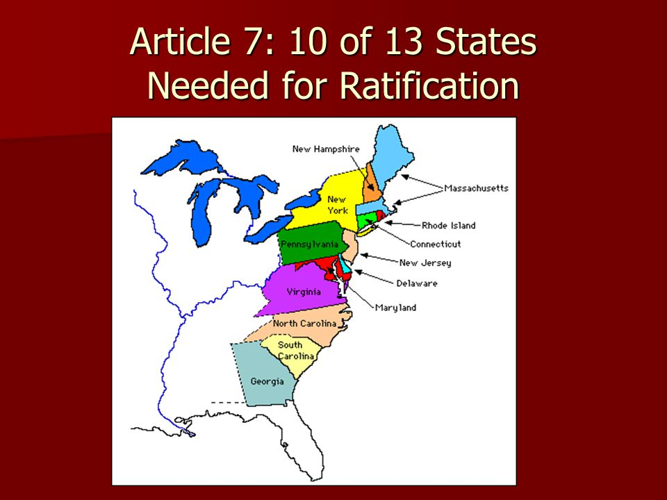 Article 7: 10 of 13 States Needed for Ratification