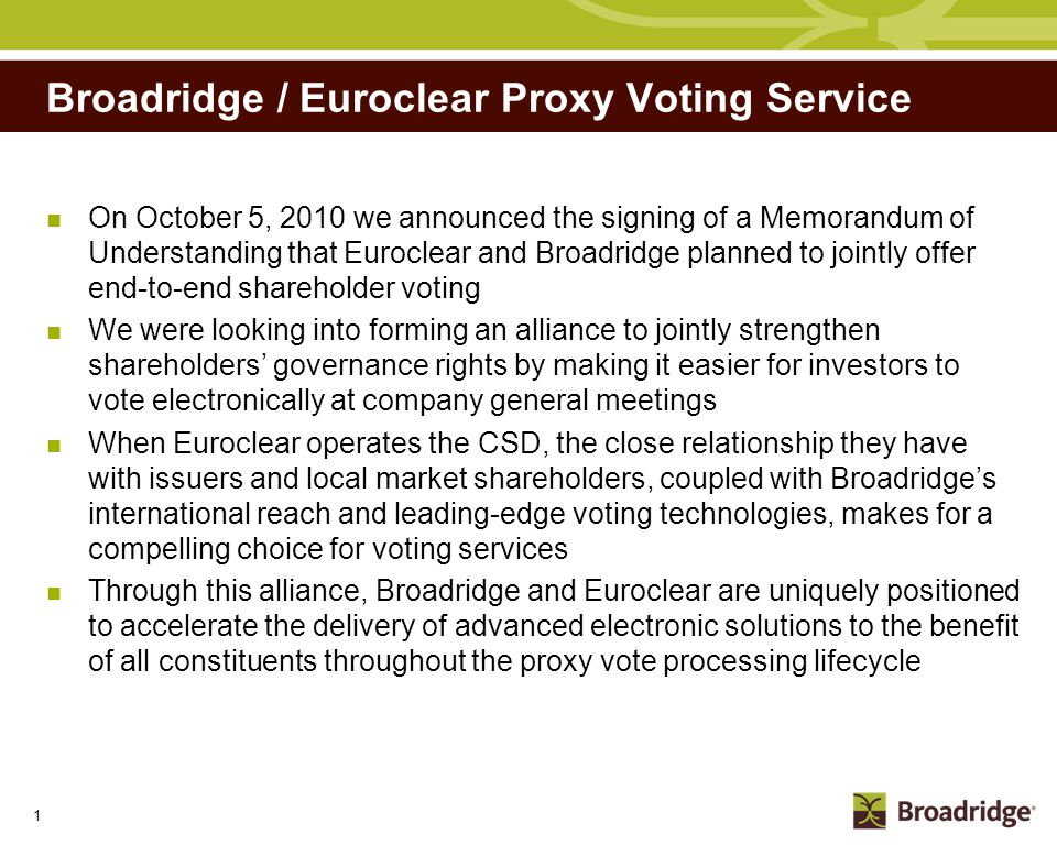 Who is Broadridge Listed in the NYSE (Ticker: BR)