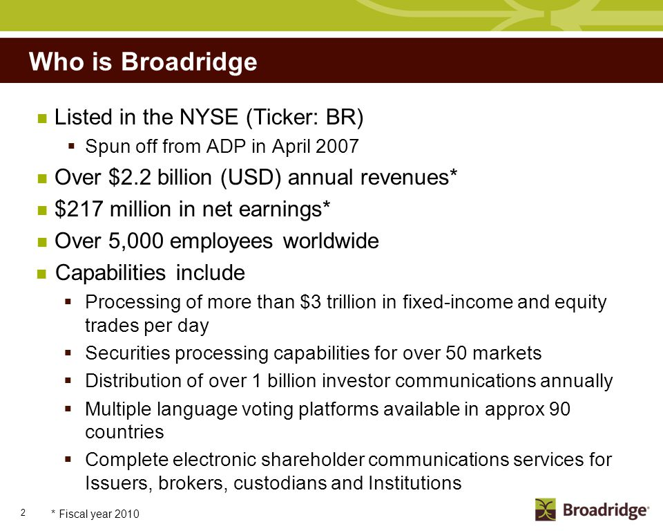 Broadridge's Role in Proxy Processing