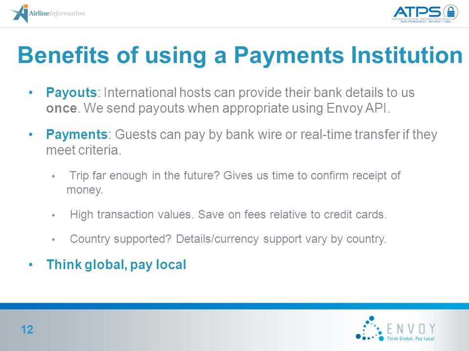 Benefits of using a Payments Institution