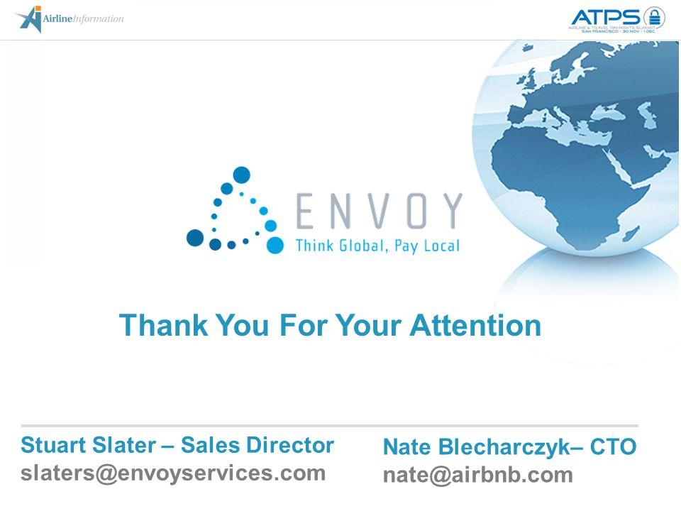 Stuart Slater – Sales Director slaters@envoyservices.com