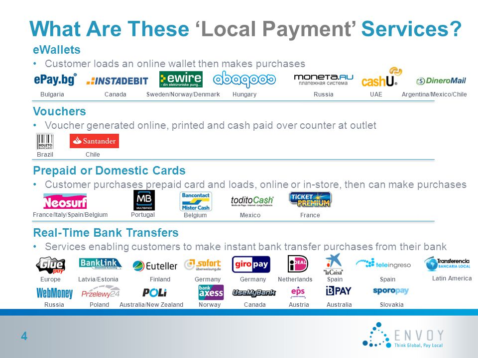 What Are These 'Local Payment' Services