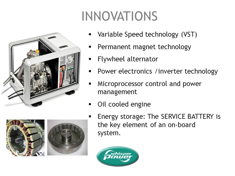 INNOVATIONS Variable Speed technology (VST)