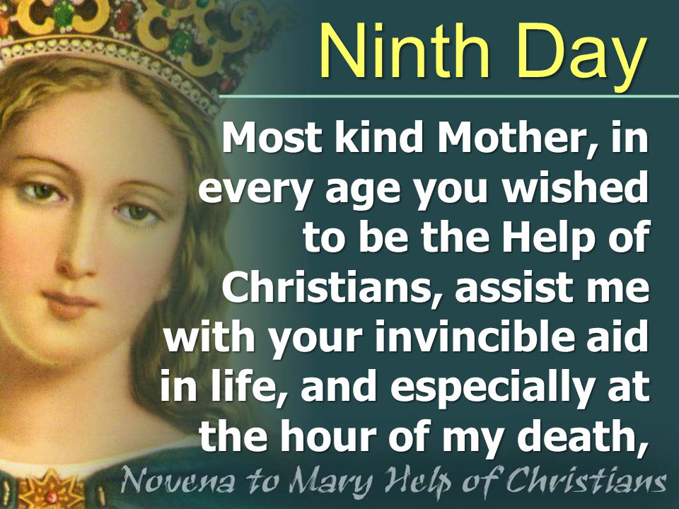 Ninth Day Most kind Mother, in