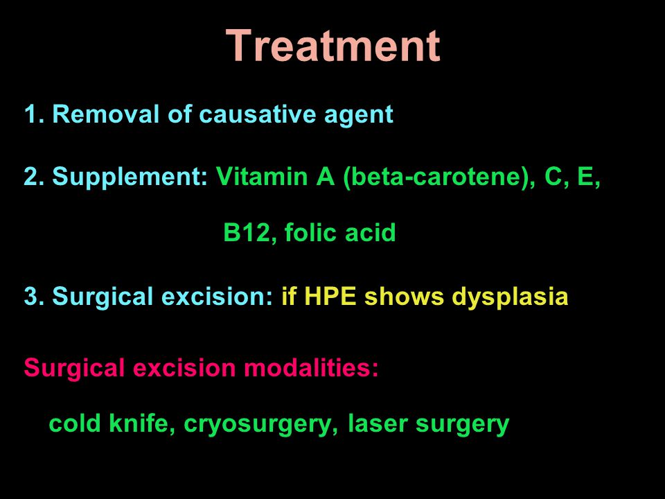 Treatment 1. Removal of causative agent