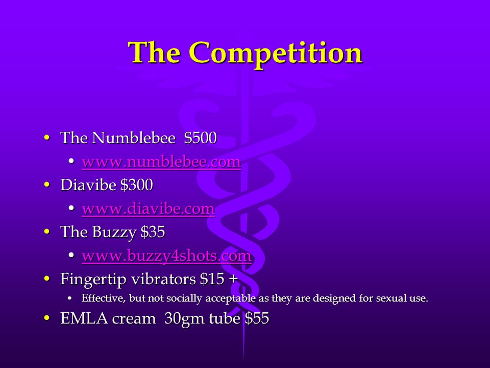 The Competition The Numblebee $500 www.numblebee.com Diavibe $300