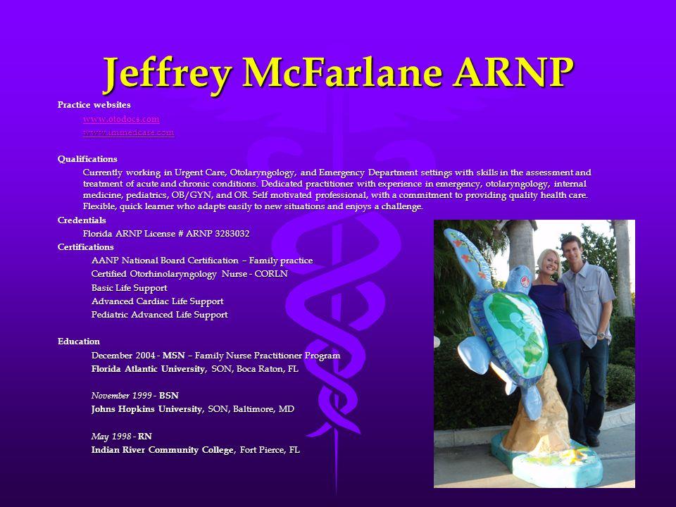 Jeffrey McFarlane ARNP