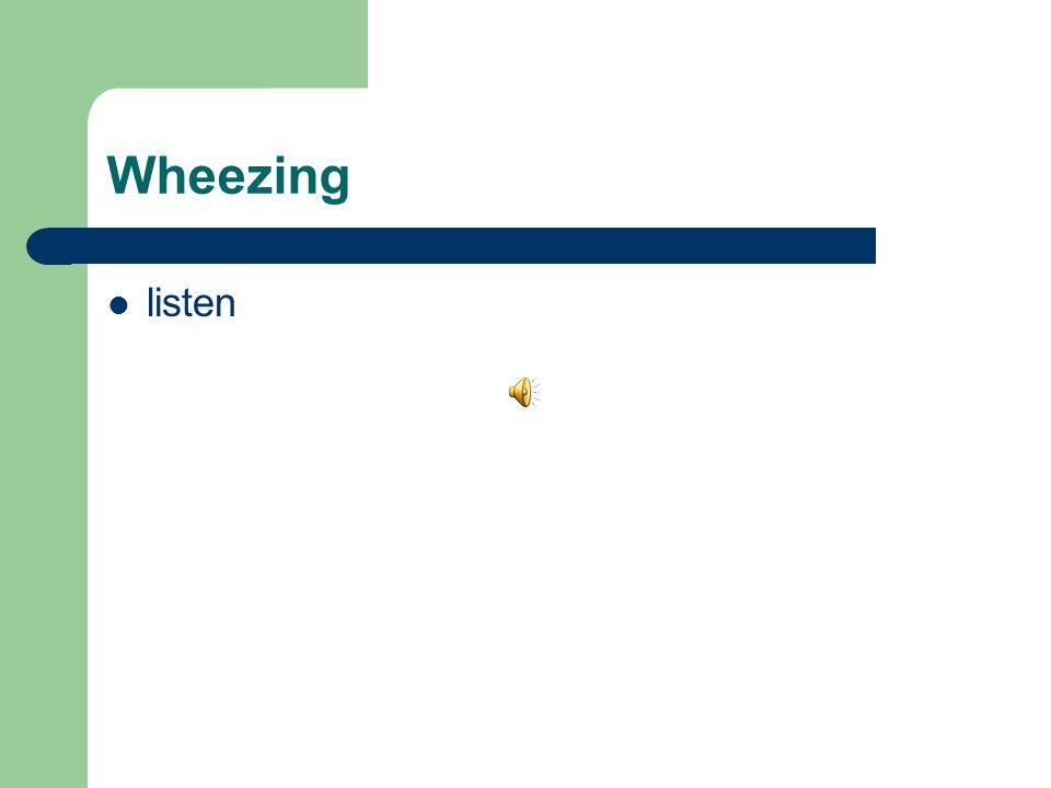 Wheezing listen