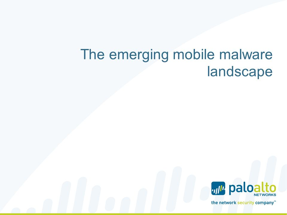 The emerging mobile malware landscape