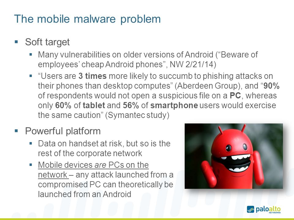 The mobile malware problem