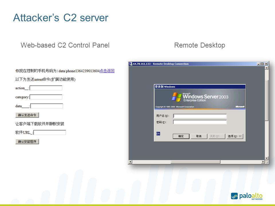 Web-based C2 Control Panel