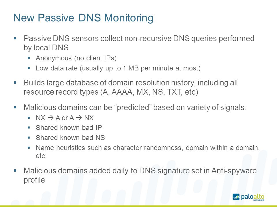 New Passive DNS Monitoring