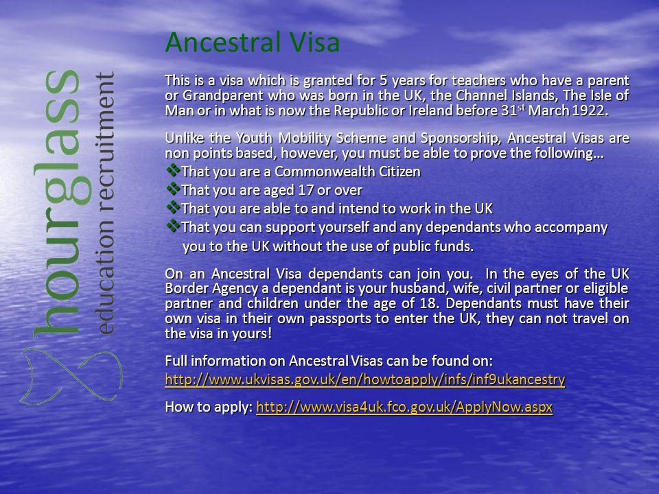 Ancestral Visa