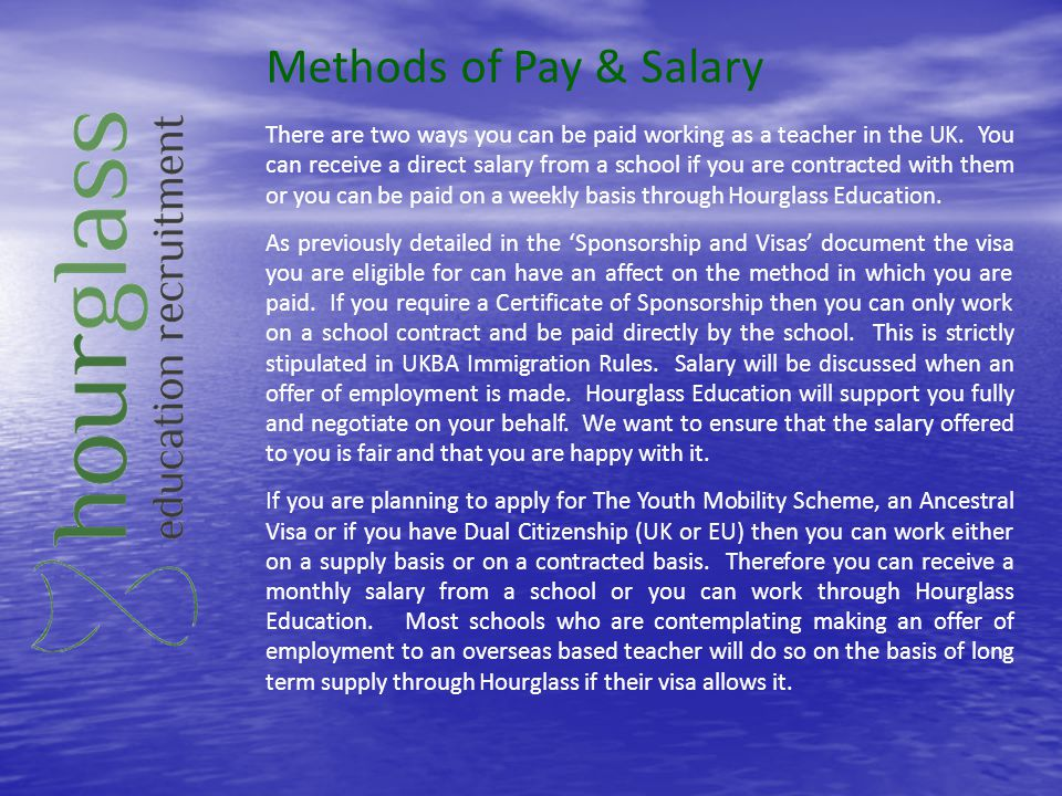 Methods of Pay & Salary