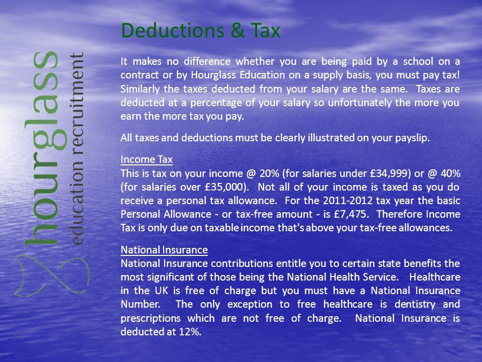 Deductions & Tax