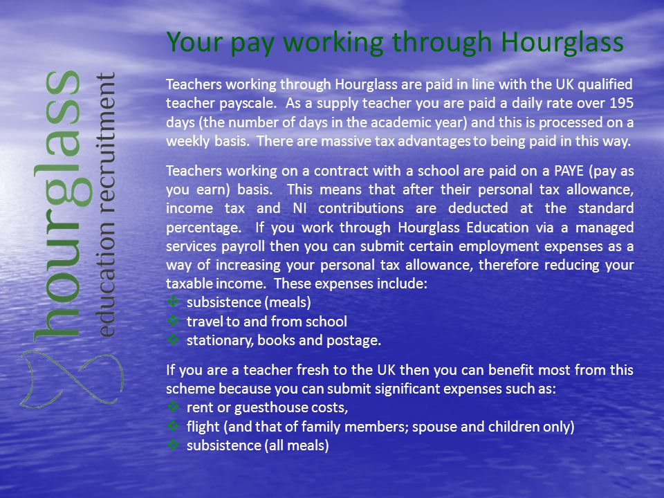 Your pay working through Hourglass