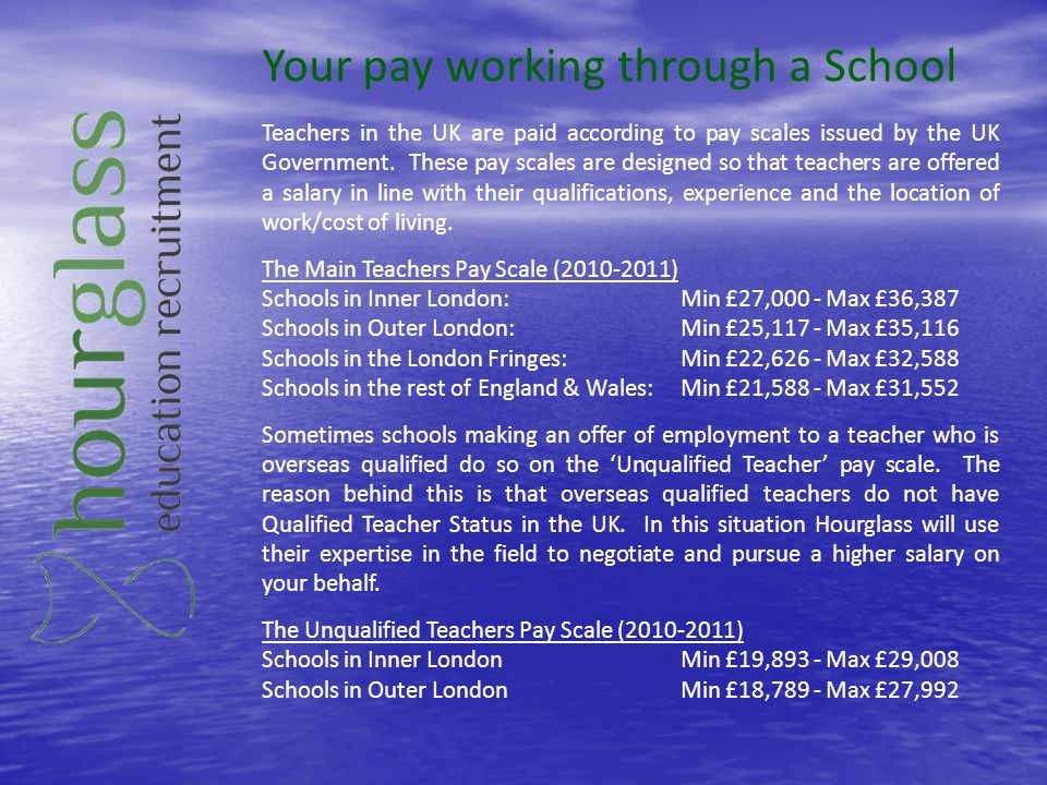 Your pay working through a School