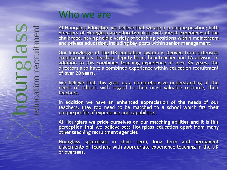 Who we are