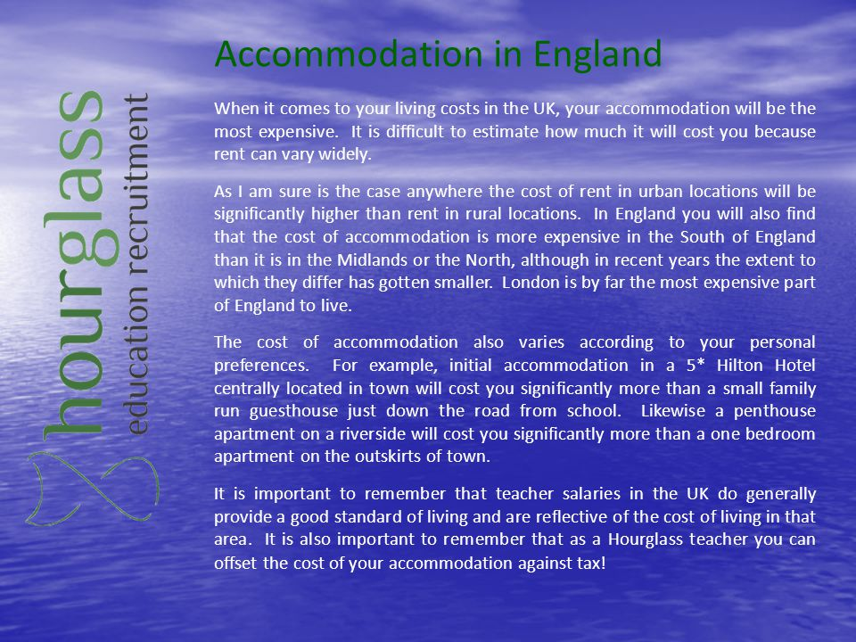 Accommodation in England