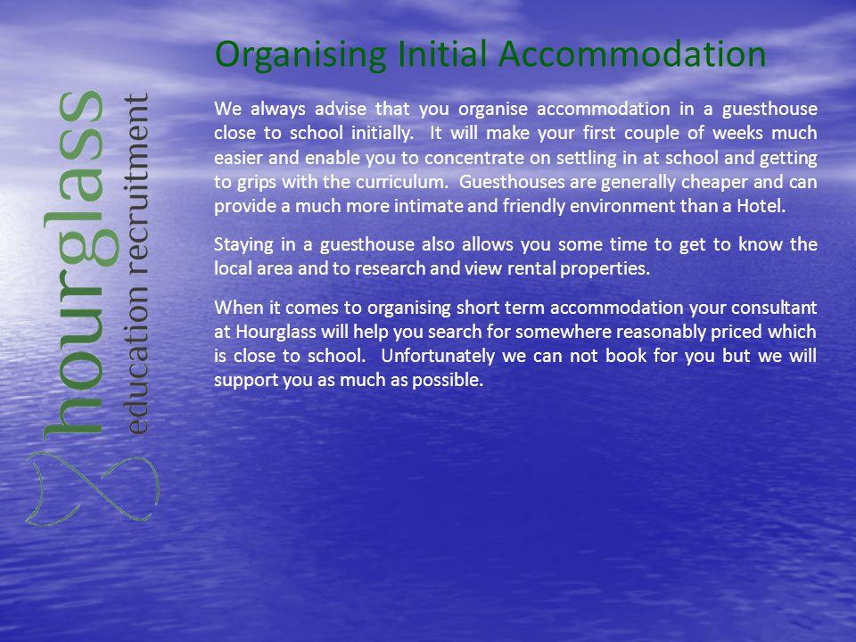 Organising Initial Accommodation