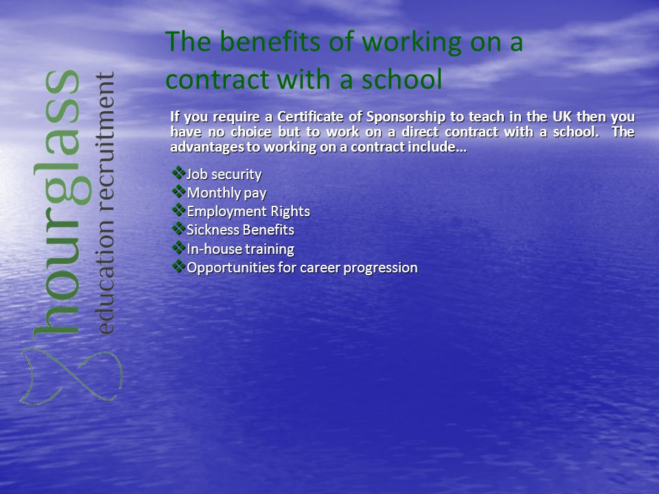 The benefits of working on a contract with a school