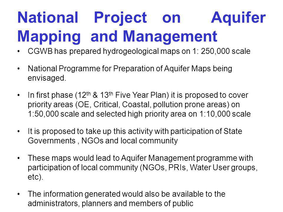 National Project on Aquifer Mapping and Management