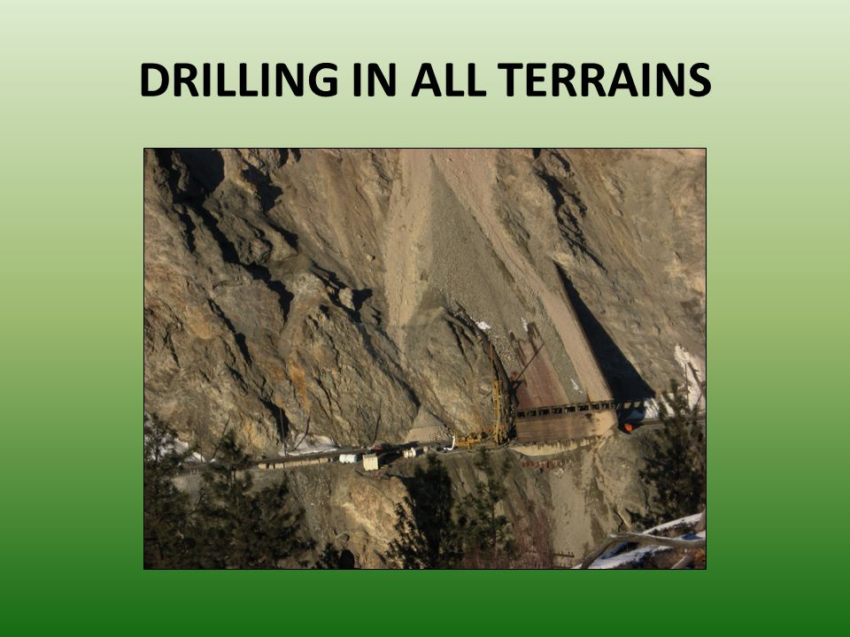 DRILLING IN ALL TERRAINS
