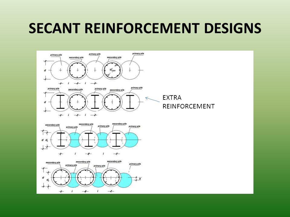 SECANT REINFORCEMENT DESIGNS