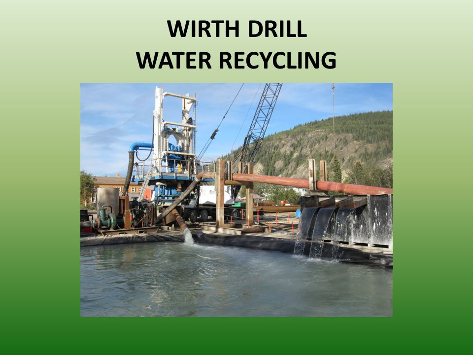 WIRTH DRILL WATER RECYCLING