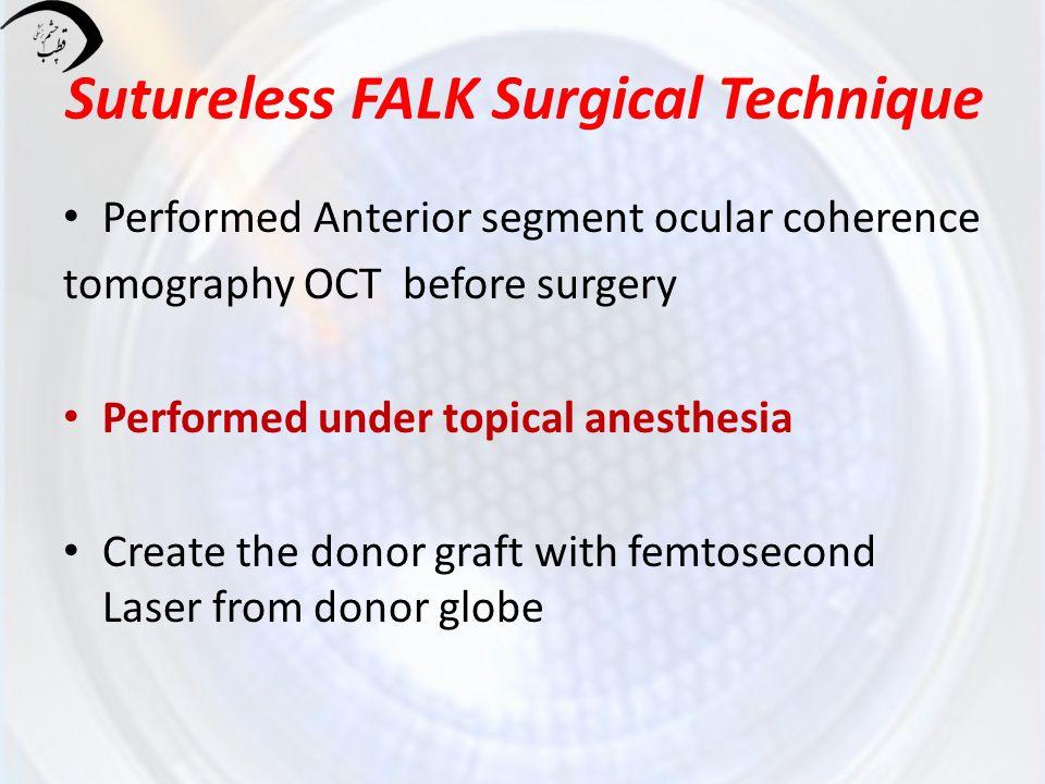 Sutureless FALK Surgical Technique