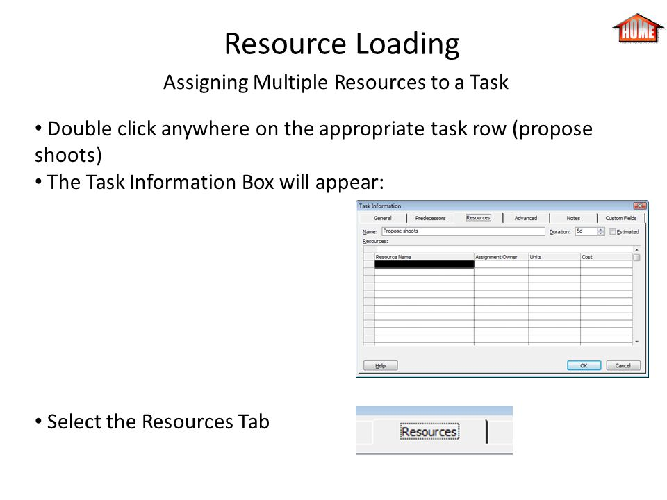 Assigning Multiple Resources to a Task