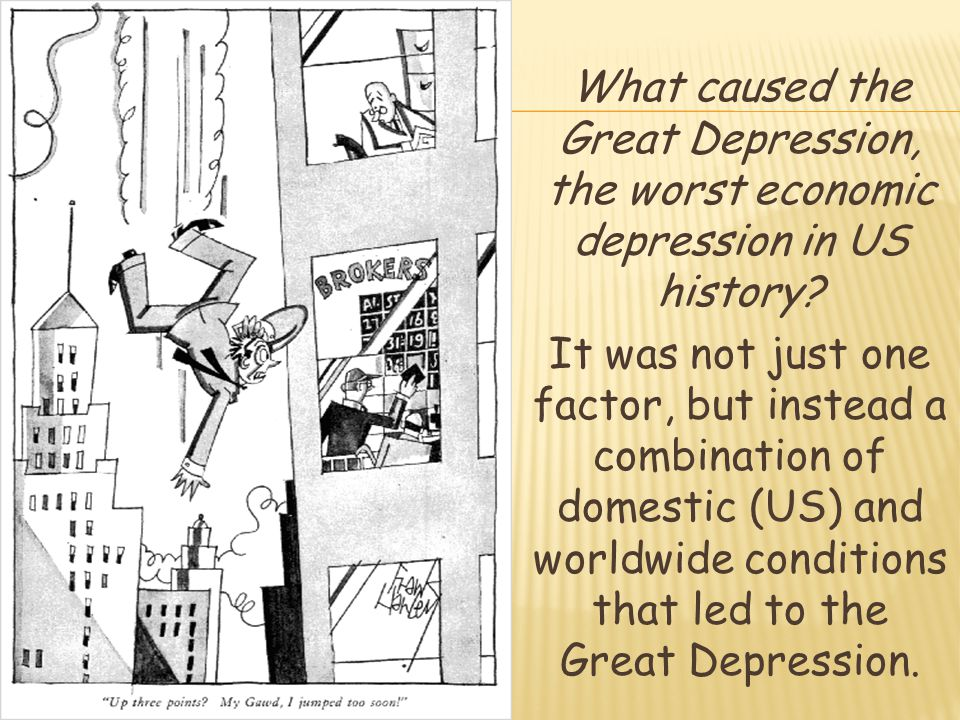 was the great depression the main What were the major causes of the great depression who were the nisei and what was the main goal of the japanese-americans citizen league.