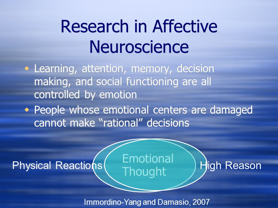 Research in Affective Neuroscience