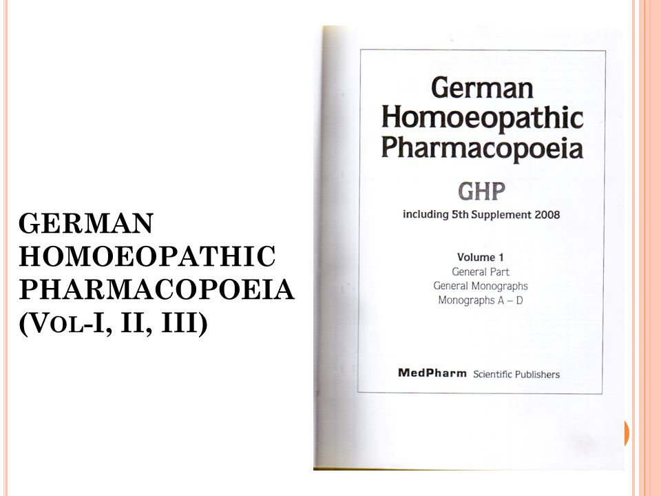 GERMAN HOMOEOPATHIC PHARMACOPOEIA (Vol-I, II, III)