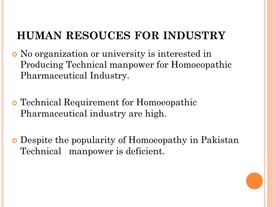 HUMAN RESOUCES FOR INDUSTRY